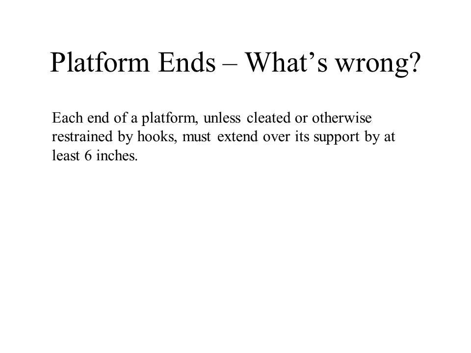 Platform Ends – What's wrong
