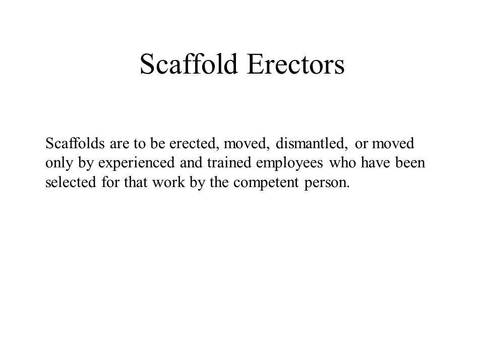 Scaffold Erectors