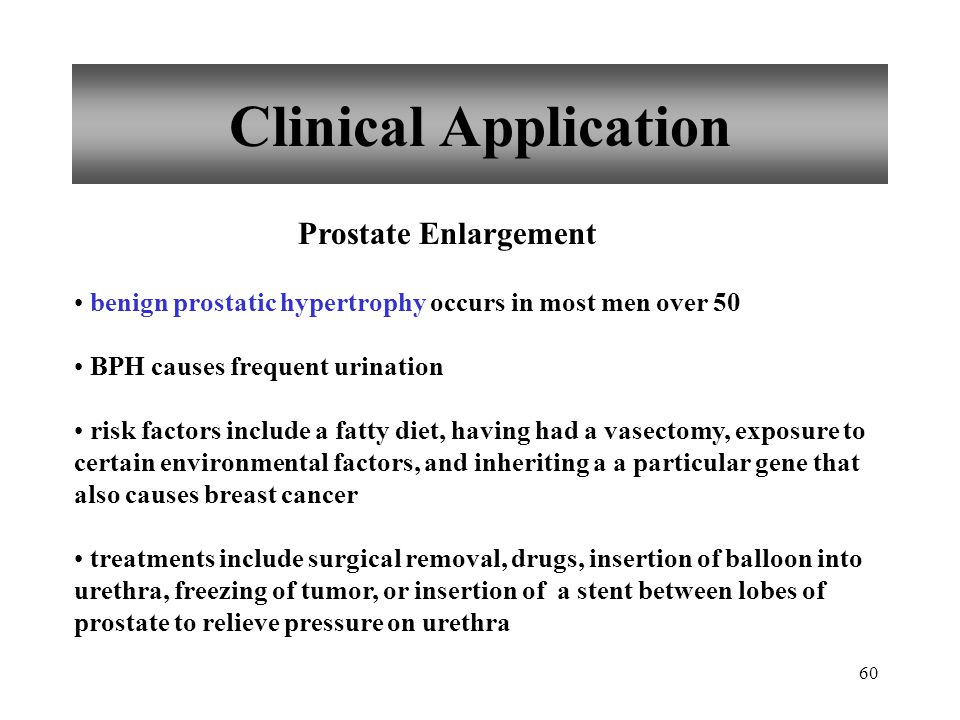 Clinical Application Prostate Enlargement
