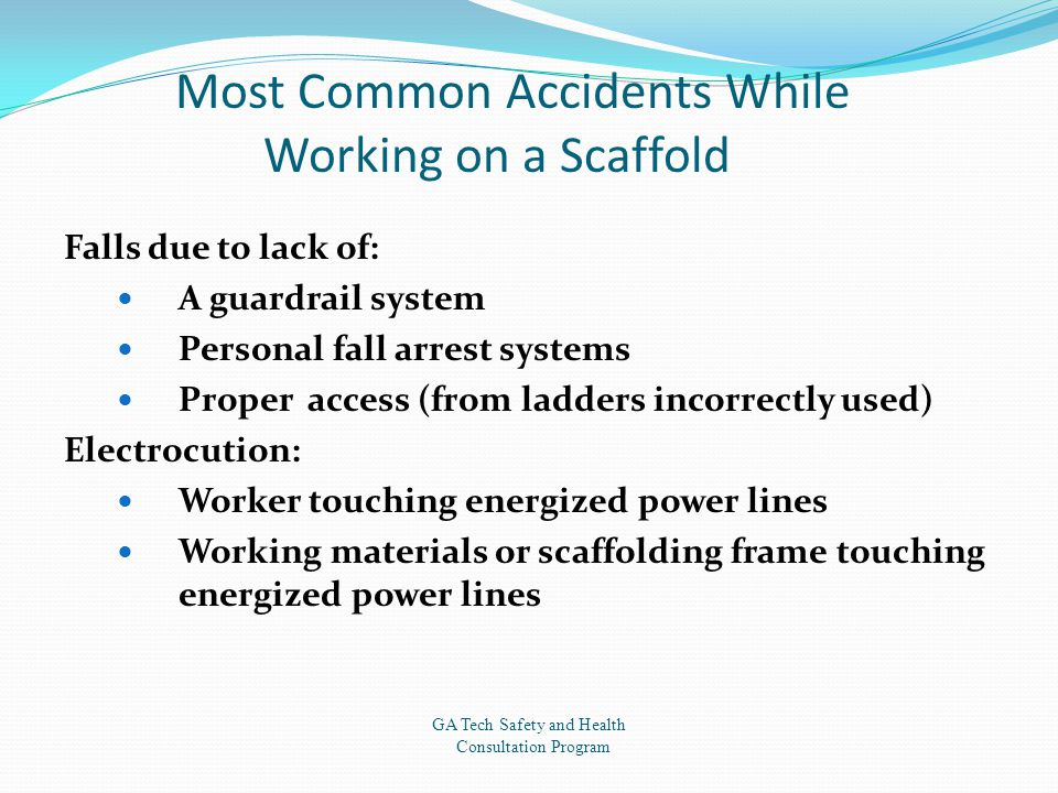 Most Common Accidents While Working on a Scaffold