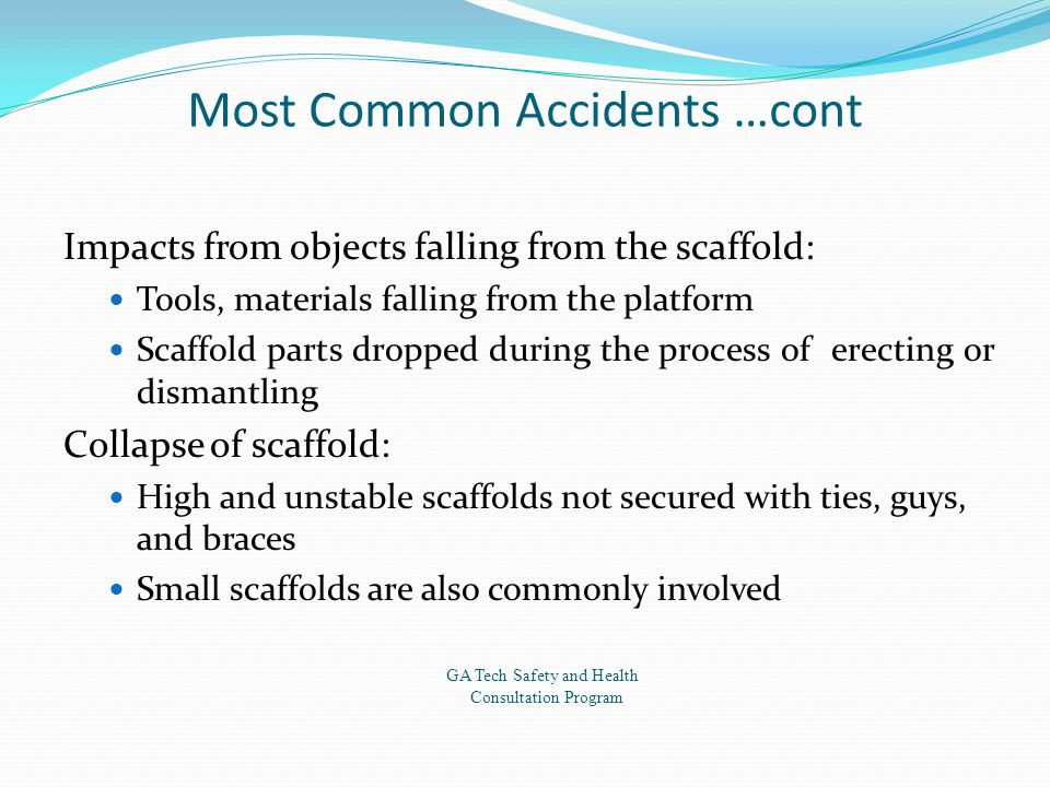 Most Common Accidents …cont