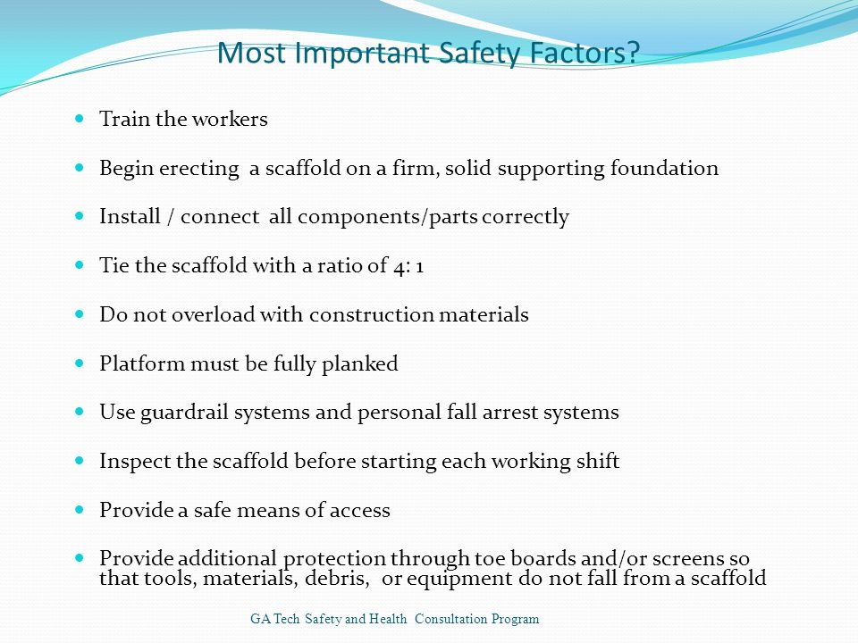 Most Important Safety Factors