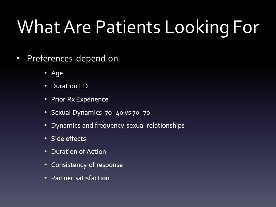 What Are Patients Looking For
