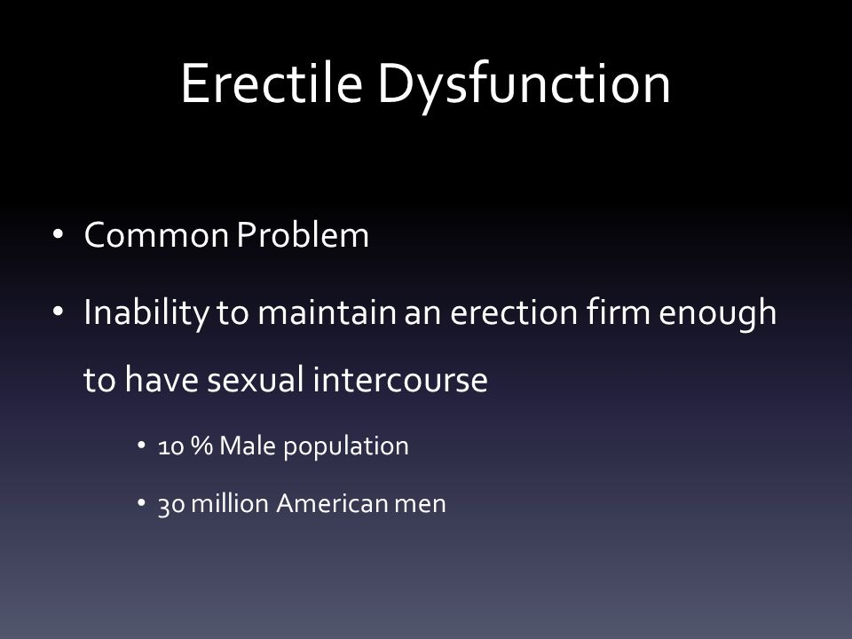 Erectile Dysfunction Common Problem