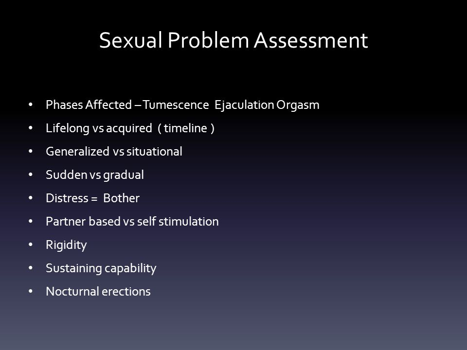 Sexual Problem Assessment