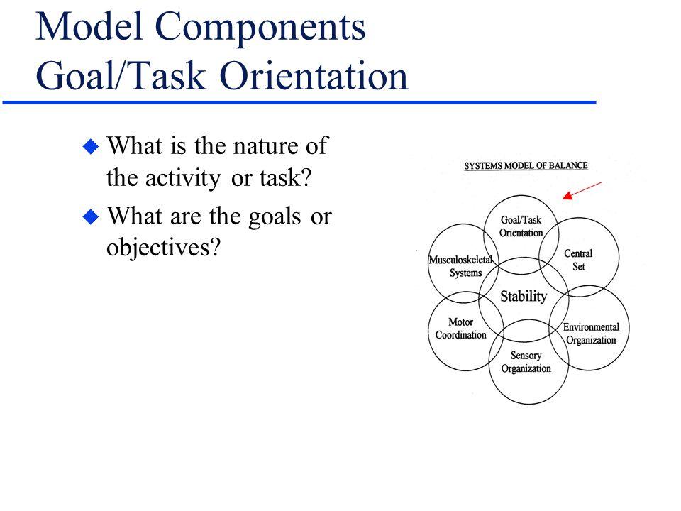 Model Components Goal/Task Orientation