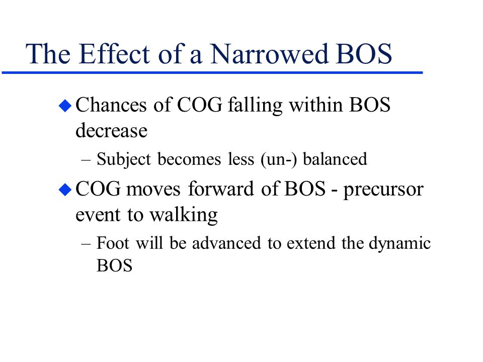 The Effect of a Narrowed BOS