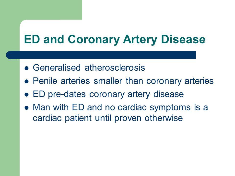 ED and Coronary Artery Disease