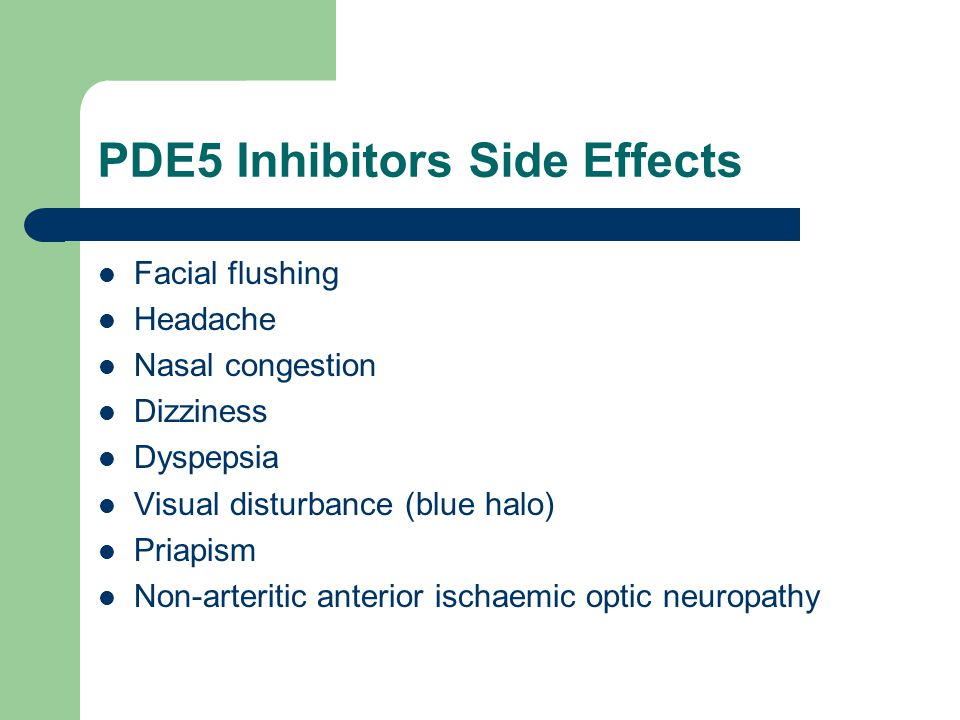 PDE5 Inhibitors Side Effects