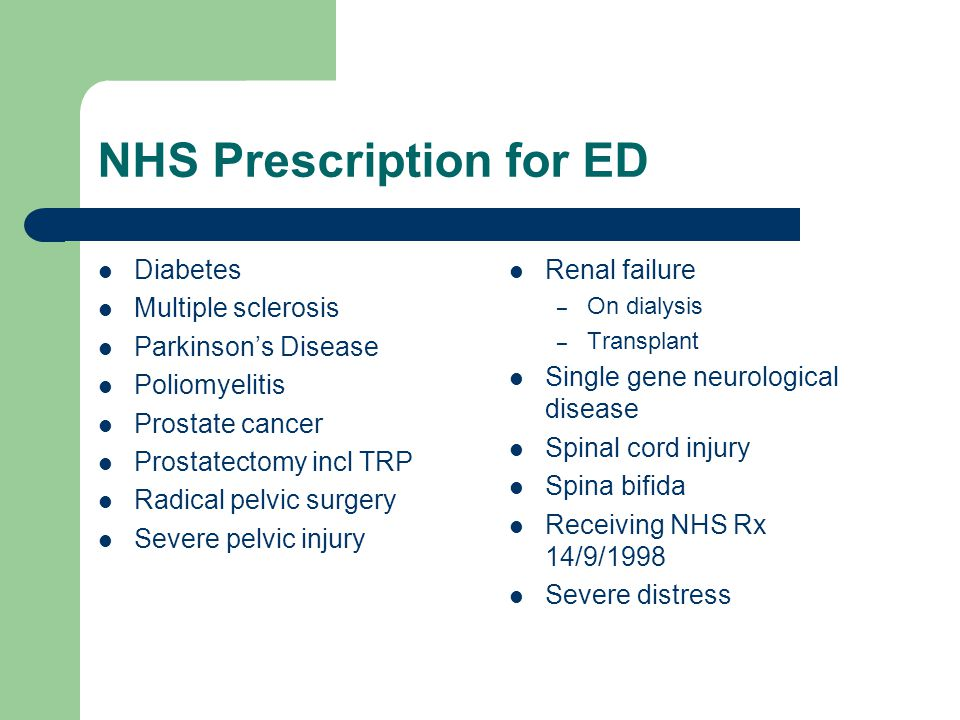 NHS Prescription for ED