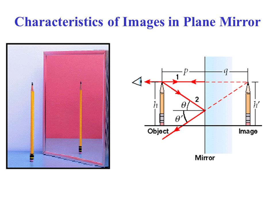 Characteristics of Images in Plane Mirror