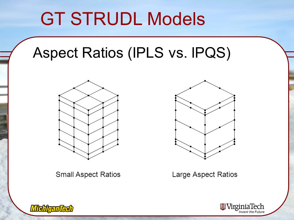 GT STRUDL Models Aspect Ratios (IPLS vs. IPQS) Small Aspect Ratios