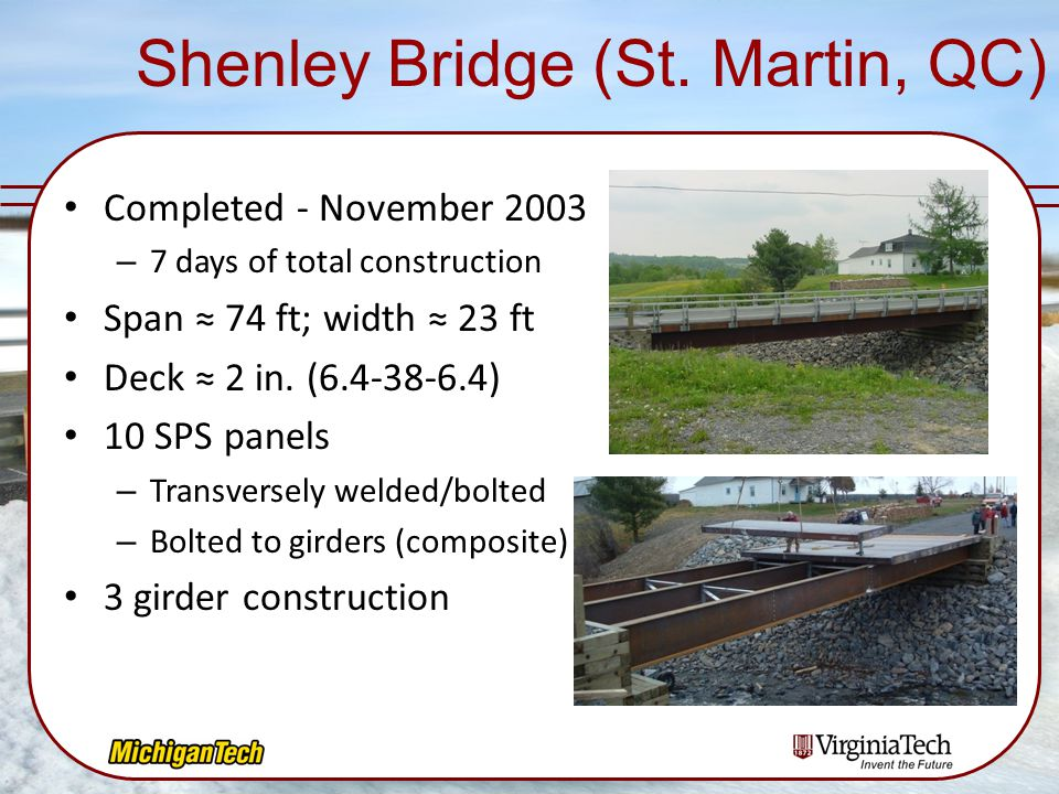 Shenley Bridge (St. Martin, QC)