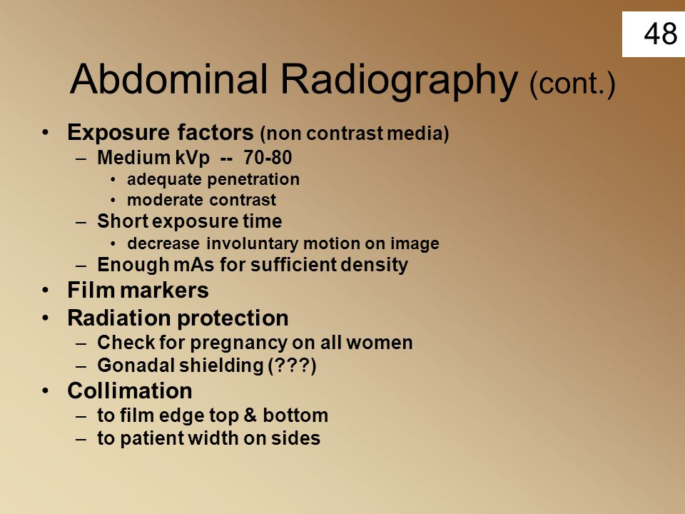 Abdominal Radiography (cont.)