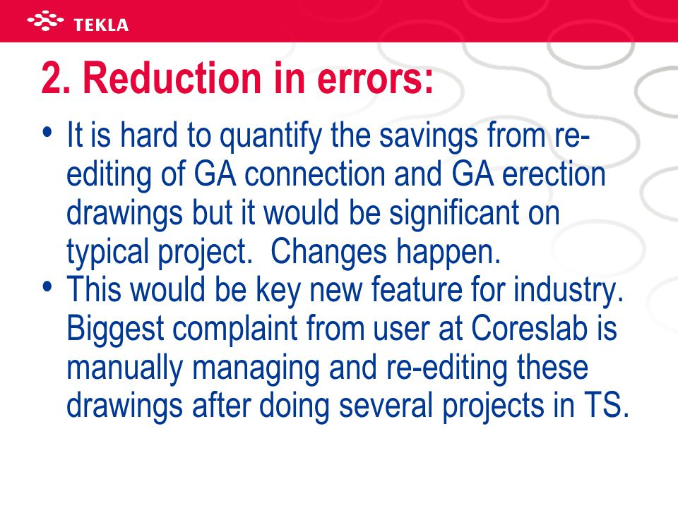 2. Reduction in errors: