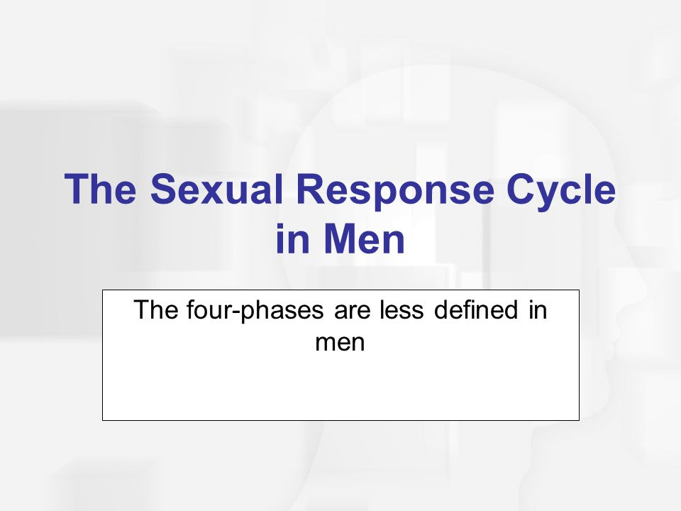 The Sexual Response Cycle in Men