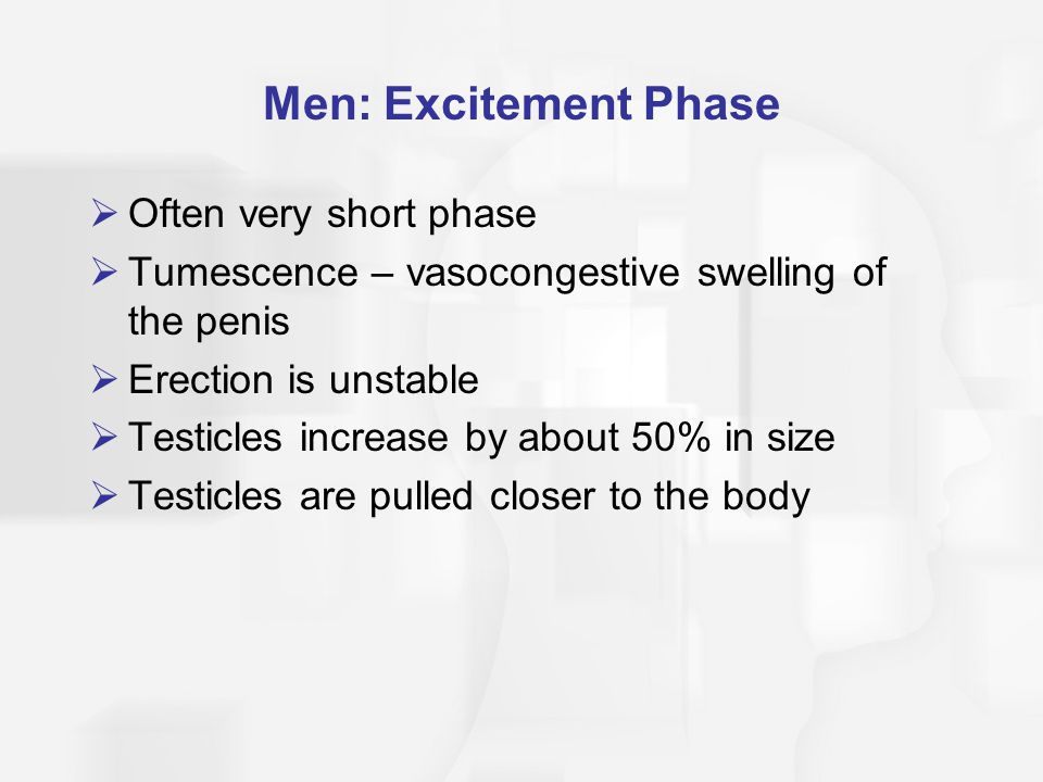 Men: Excitement Phase Often very short phase