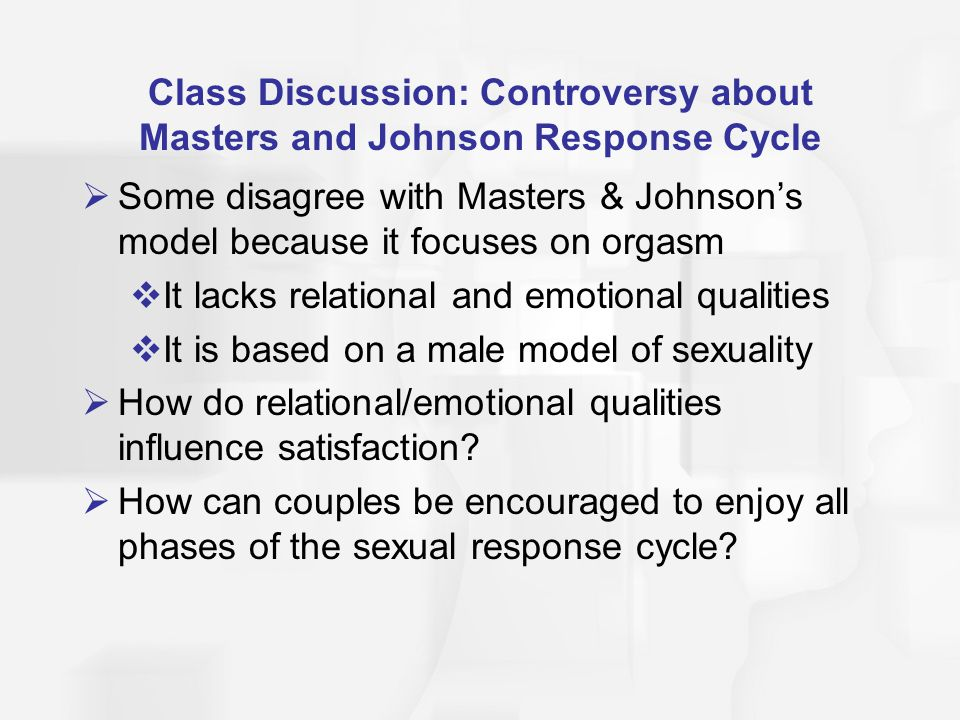 Class Discussion: Controversy about Masters and Johnson Response Cycle