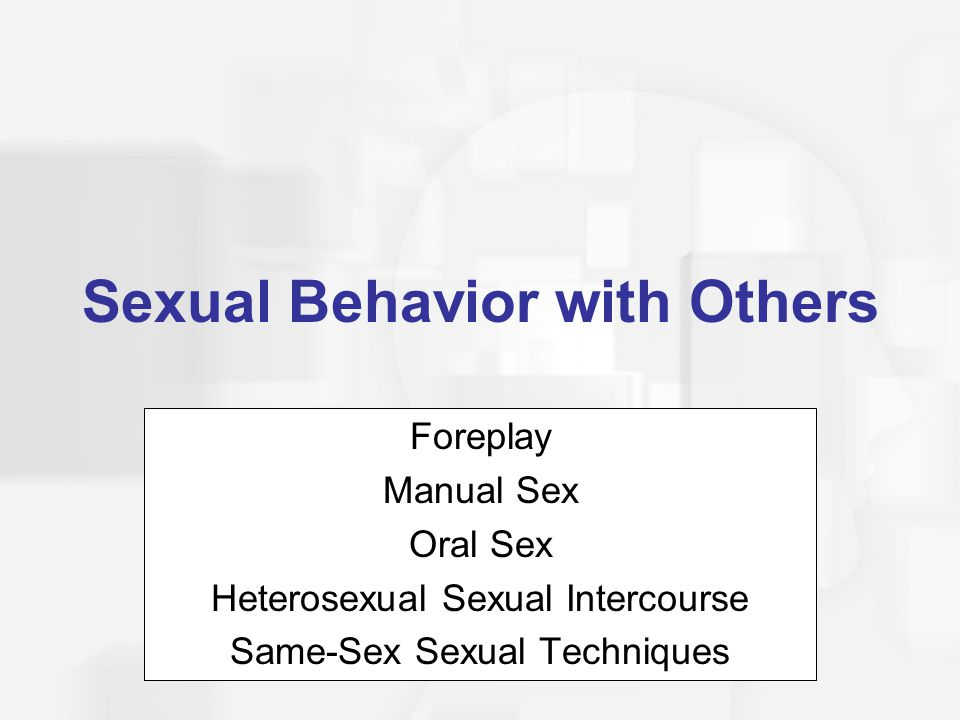 Sexual Behavior with Others