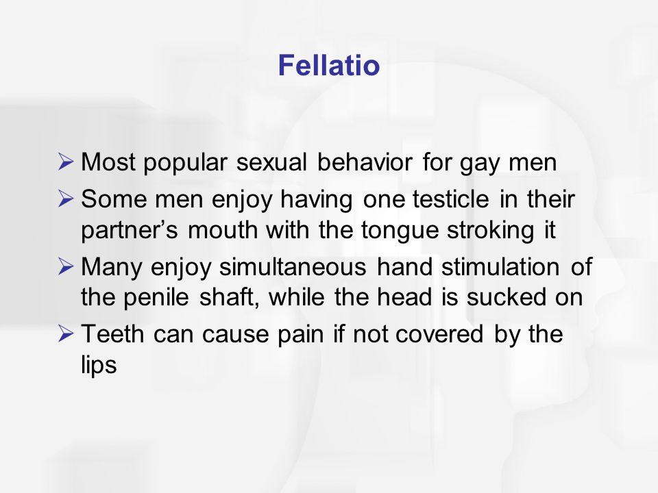 Fellatio Most popular sexual behavior for gay men