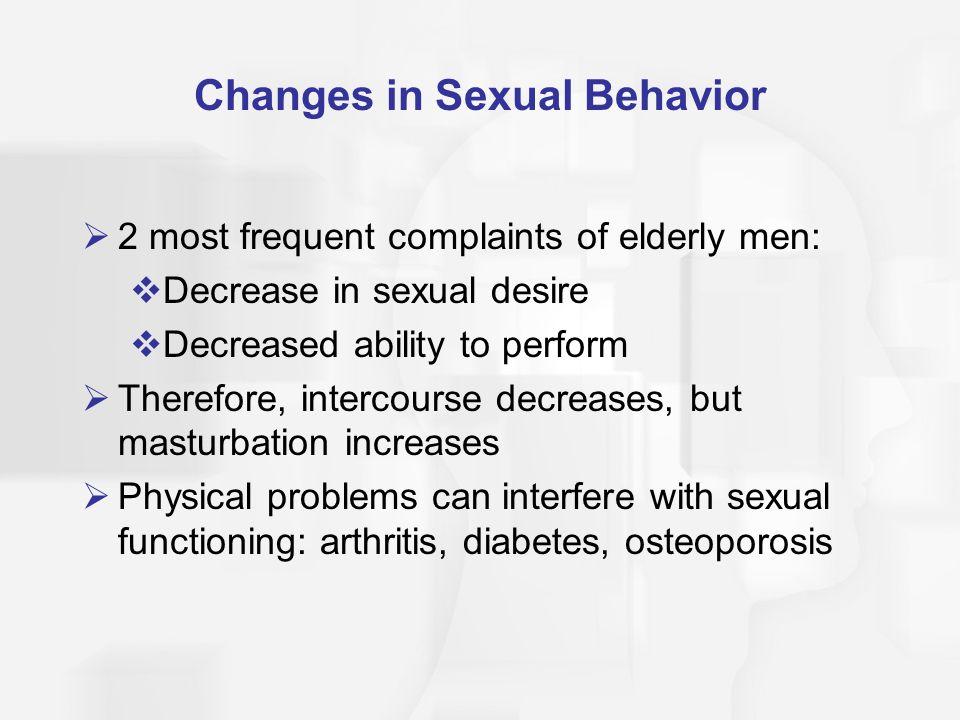 Changes in Sexual Behavior