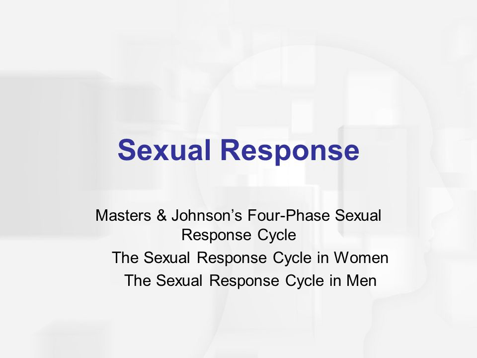 Sexual Response Masters & Johnson's Four-Phase Sexual Response Cycle