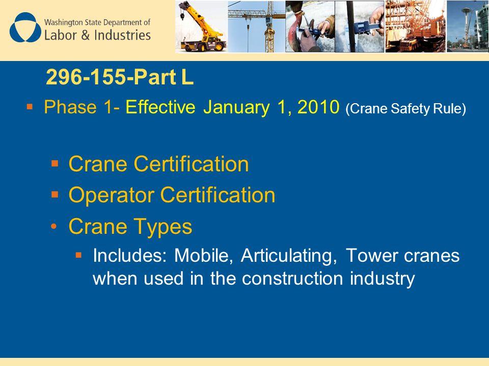 Operator Certification Crane Types