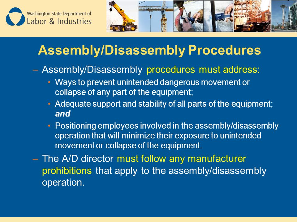 Assembly/Disassembly Procedures