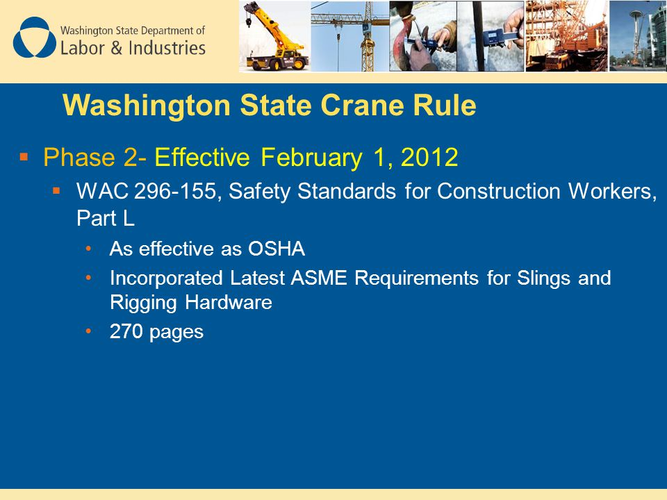Washington State Crane Rule