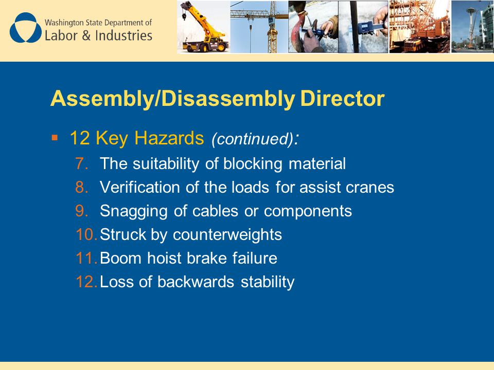 Assembly/Disassembly Director