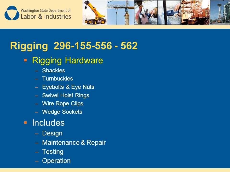 Rigging 296-155-556 - 562 Rigging Hardware Includes Design