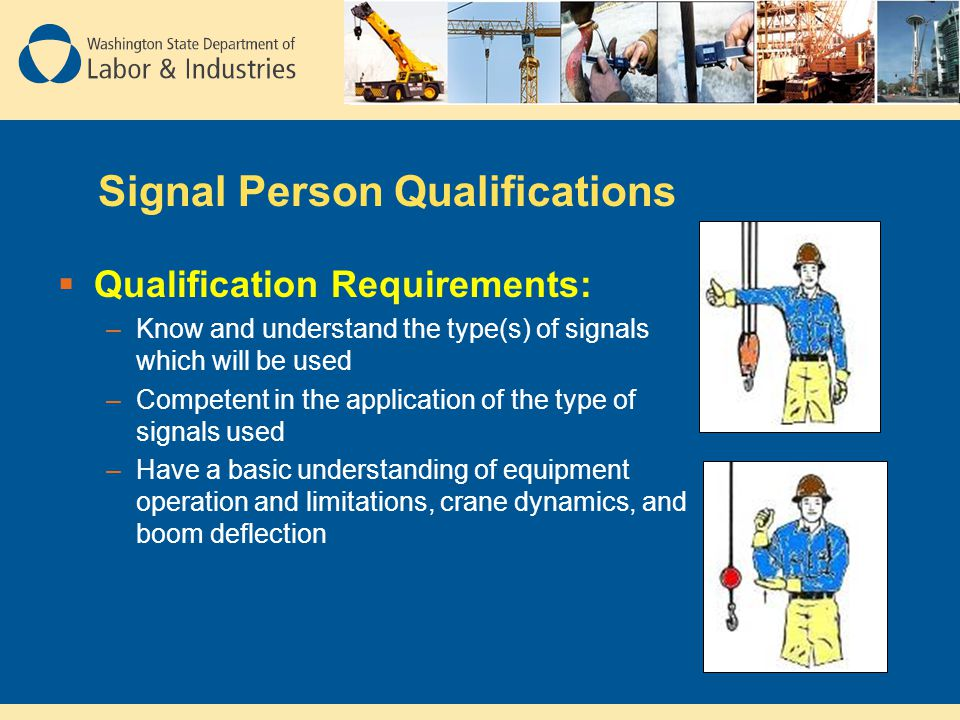 Signal Person Qualifications
