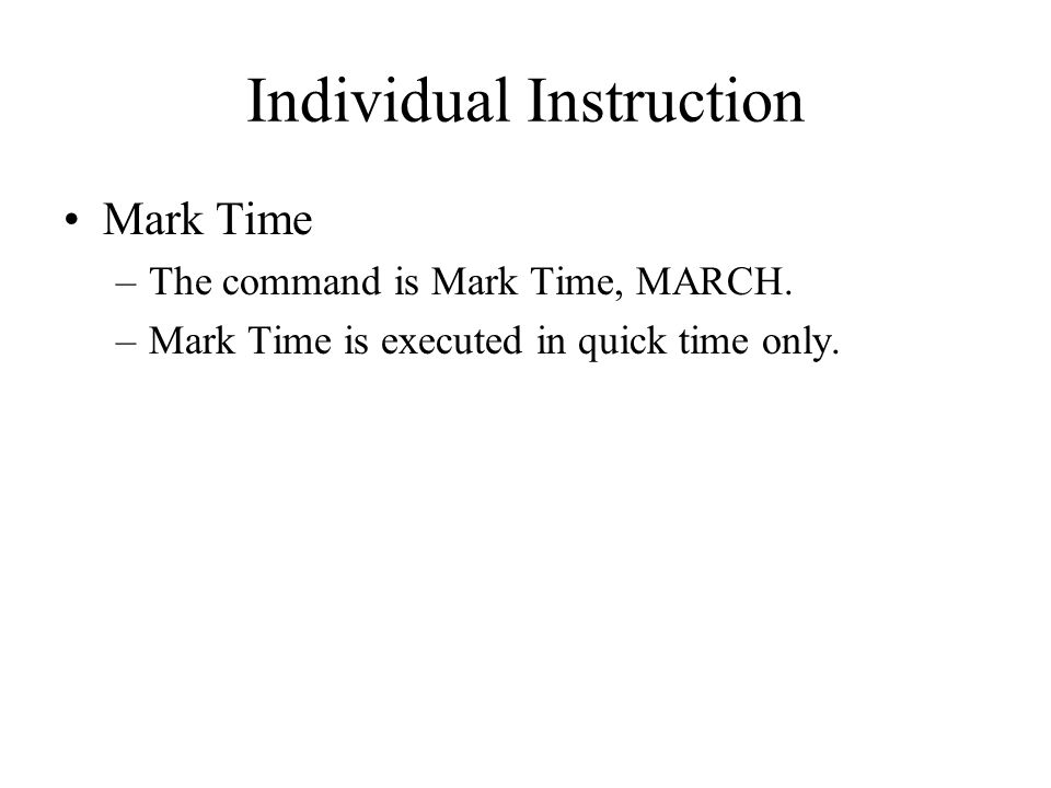 Individual Instruction