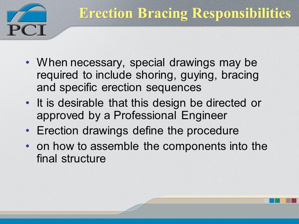 Erection Bracing Responsibilities