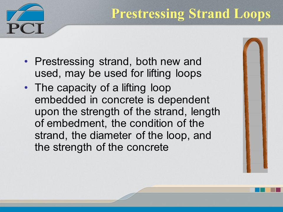 Prestressing Strand Loops