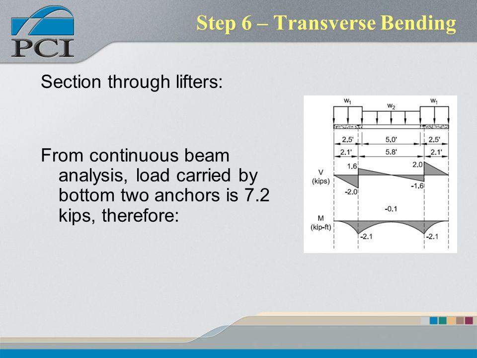 Step 6 – Transverse Bending