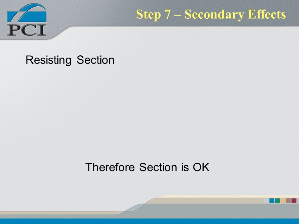Step 7 – Secondary Effects
