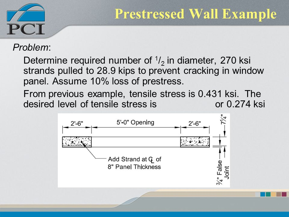 Prestressed Wall Example
