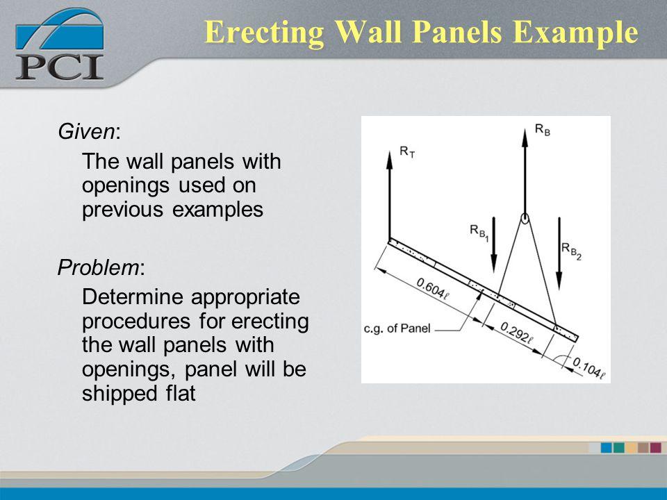 Erecting Wall Panels Example