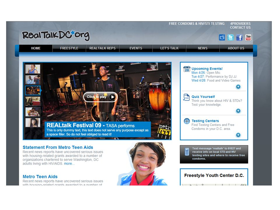 Do: Direct participants to the RealTalkDC website for more resources and information.