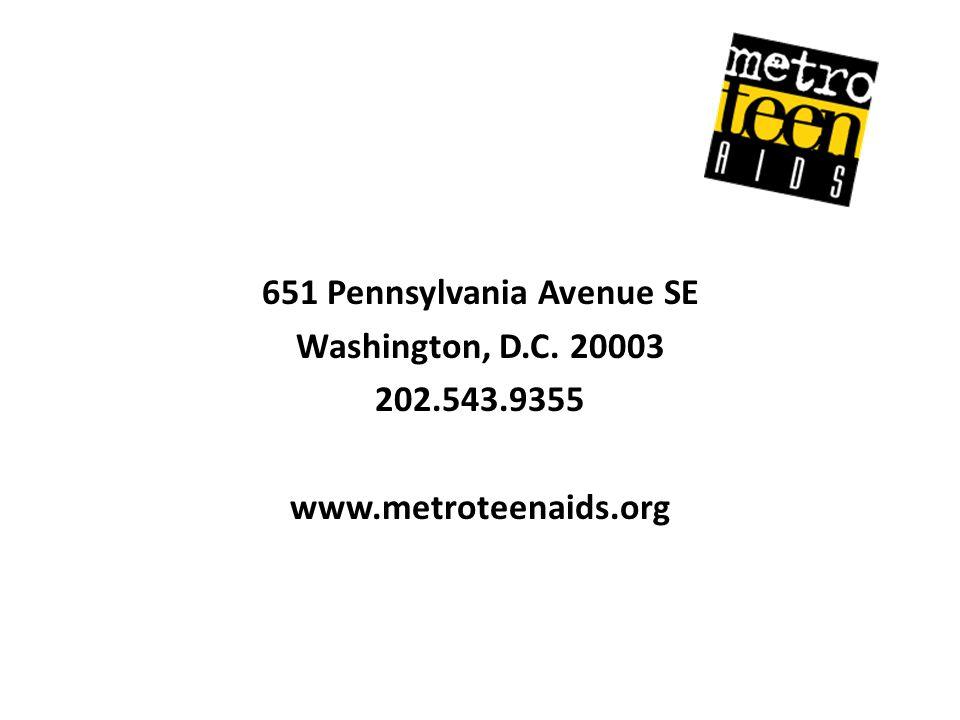 651 Pennsylvania Avenue SE Washington, D. C. 20003 202. 543. 9355 www