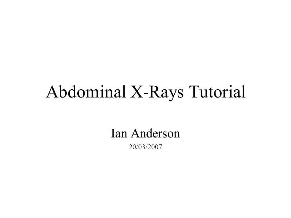Abdominal X-Rays Tutorial