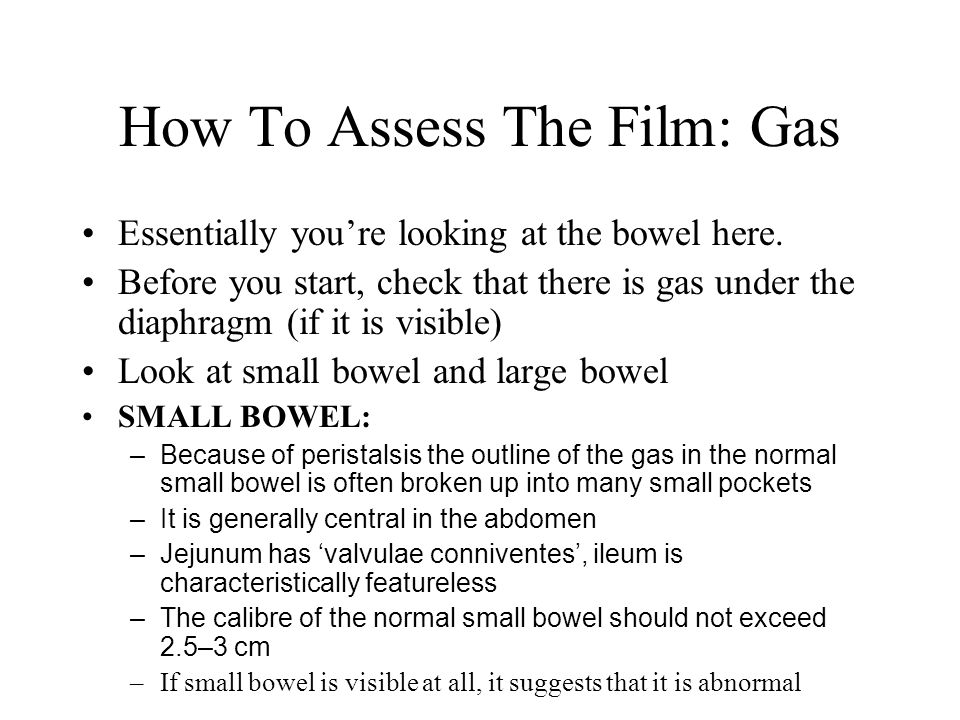 How To Assess The Film: Gas