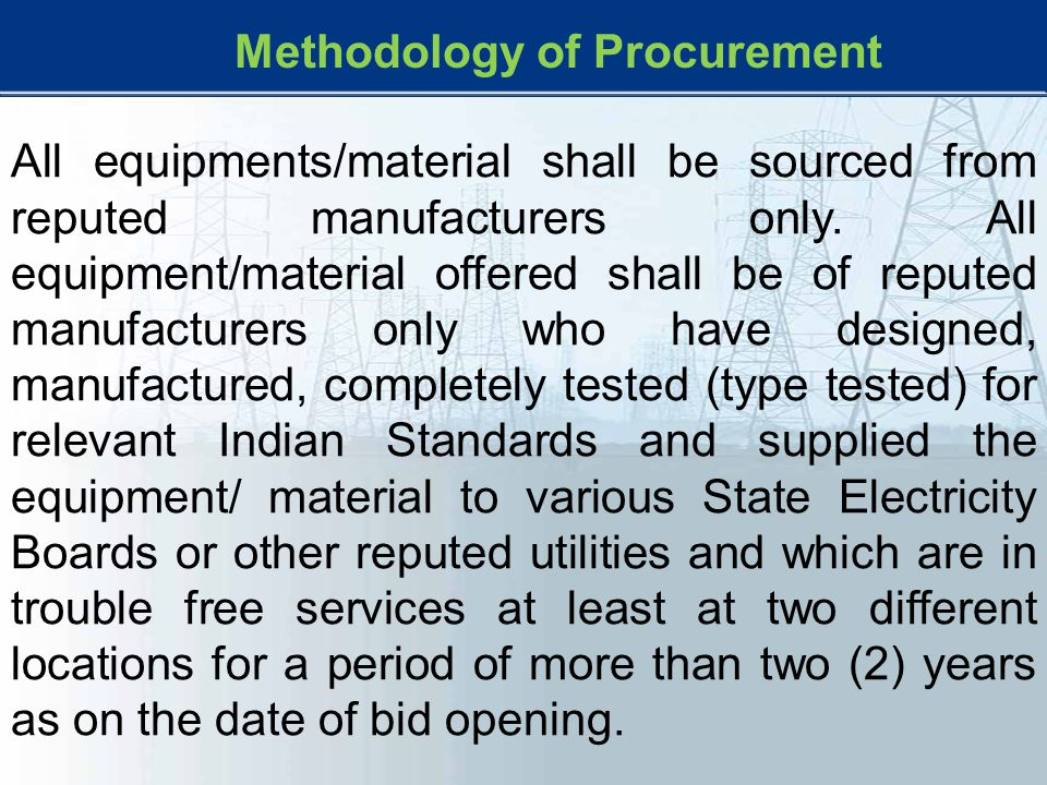 Methodology of Procurement