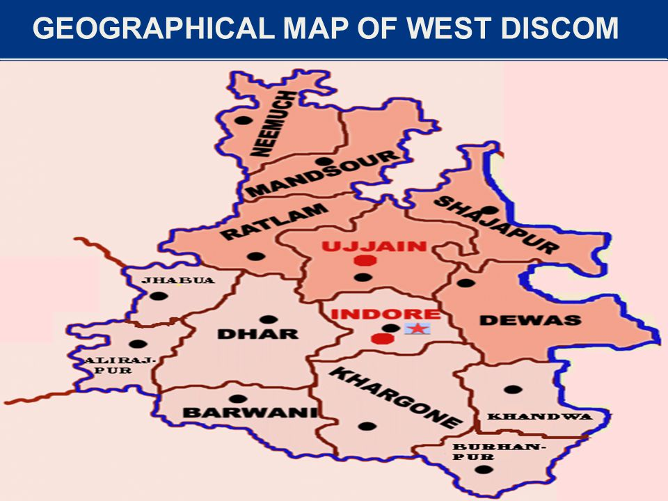 GEOGRAPHICAL MAP OF WEST DISCOM