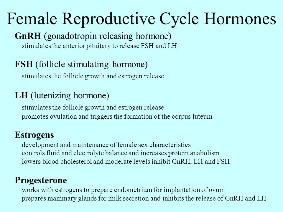 Female Reproductive Cycle Hormones