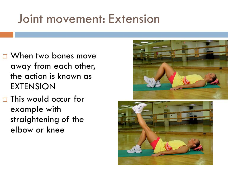 Joint movement: Extension