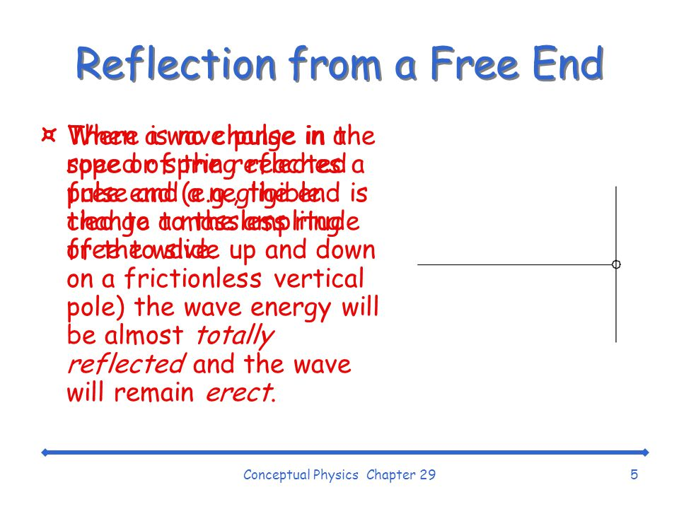 Reflection from a Free End