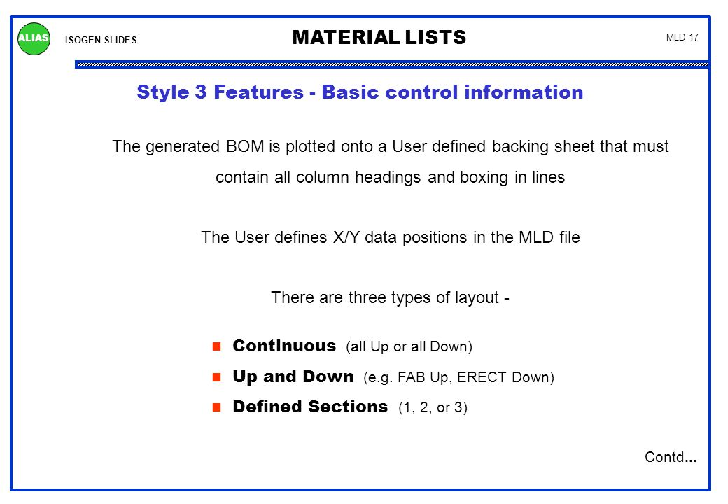 Style 3 Control Features