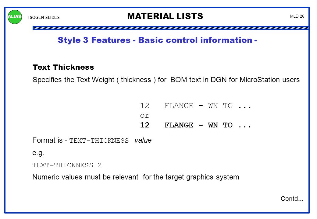 Style 3 Features - Basic control information -